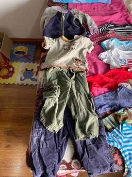 Lote de ropa para bebe talla 18 meses.
