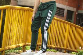 Sudadera Jogger Pantalon Tres Rayas Verde - Promocion!