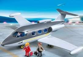Avión jet playmobil grande con sus accesorios como nuevo