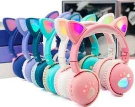 Auriculares Diadema De Gato Tipo Huellas con Bluetooth