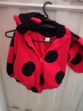Disfraz lady bug talla 18 meses