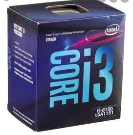 Procesador i3 8100. Con gráficos y ventilador original.