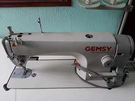 Máquina plana marca gemsy 8900