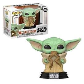 Funko Pop Baby Yoda Comiendo Rana Star Wars the mandalorian
