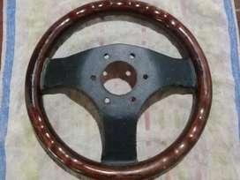 volante de madera tipo fiat