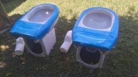 Liquido: 2 inodoros sistema con valvula/ nuevos Marca Roca