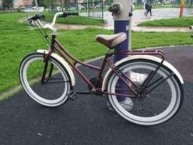 Bicicleta Playera vinotinto