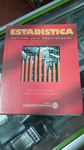 Estadística aplicada para administración editorial iberoamericana autores García Santos