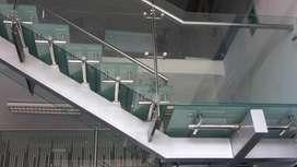 Barandas de Acero inoxidable cpn vidrio Templado