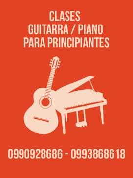 CLASES DE GUITARRA Y PIANO