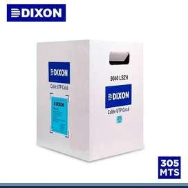 Cable Dixon 9040 Utp Cat6 Chaqueta Lshz Gris 305m