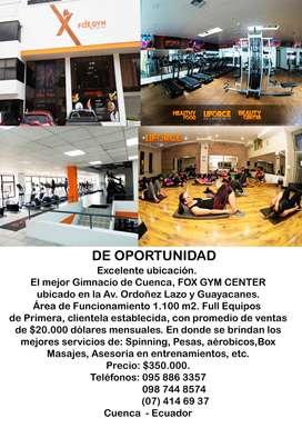 El mejor Gimnacio de Cuenca, FOX GYM CENTER ubicado en la Av. Ordoñez Lazo y Guayacanes.