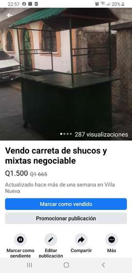 Carreta para Shucos Y Mixtas Negociable