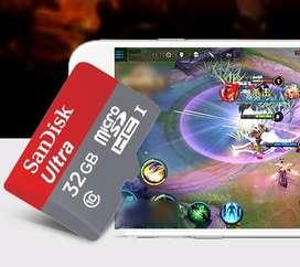 Micro Sd Sandisk A1 32gb Clase10 Memoria Nuevo Original