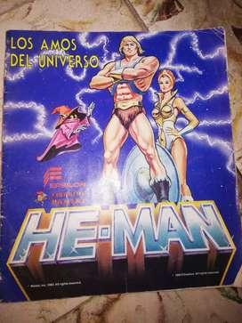 Álbum  HE-MAN He-man páginas 216 le faltan 114