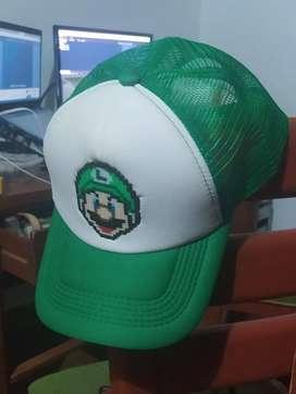 Gorra Verde Luigi Pixel Arts