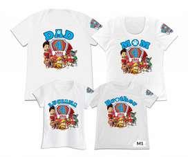 Camisetas Familiar Set 4 papa mama hijo hija ideal para cumpleaños