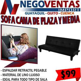 SOFA CAMA DE PLAZA Y MEDIA