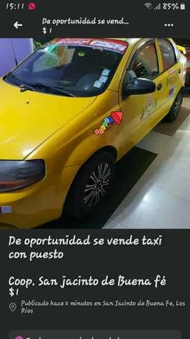 Se vende taxi con puesto Cooperativa San Jacinto de Buena fe
