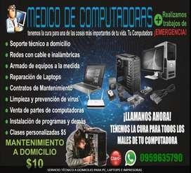 SERVICIO TÉCNICO A DOMICILIO PARA PC, LAPTOPS E IMPRESORAS