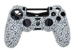 Forro Silicona Protector Control Ps4+2 Grips Notas Musicales