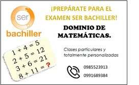 Clases matematicas pruebas ser bachiller
