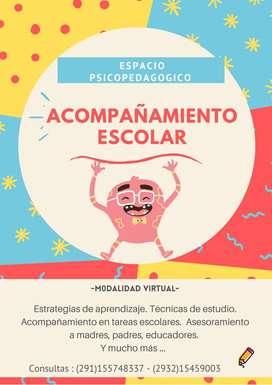 Espacio Psicopedagogico - Acompañamiento Escolar -