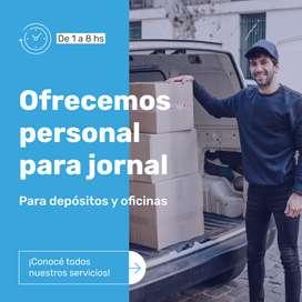 Ofrecemos personal/ peones para jornal en depositos  y descarga de camiones y contenedores