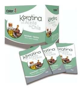 Keratina Con Aceite De Chía Caja X 24 Sa - g a $54