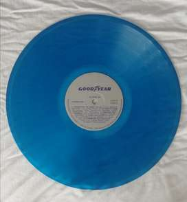 Lp vinilo acetato para decorar azul