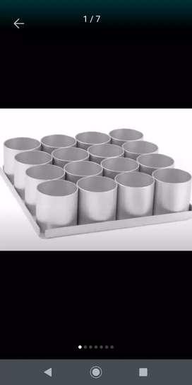 Artículos de repostería. Moldes en plata excelente calidad