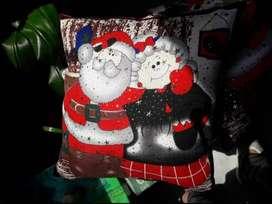 Cojines navideños de papá noel