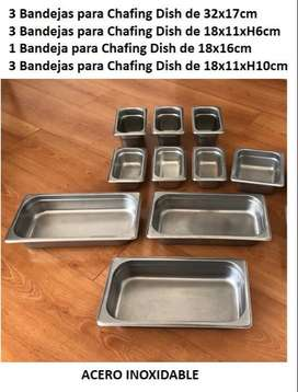 Bandejas Chafing Dish Acero Inoxidable
