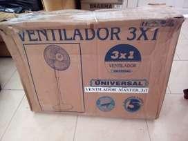 Ventilador nuevo marca Universal 3x1