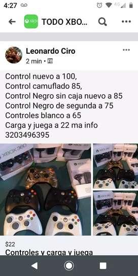 Controles y carga y juega Xbox 360
