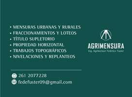 Agrimensor mensuras Mendoza