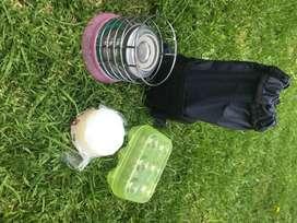 Kit cocina de alcohol camping