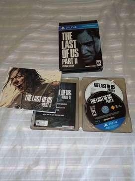 The last of us II PS4 Steelbook edición especial con juego incluído.