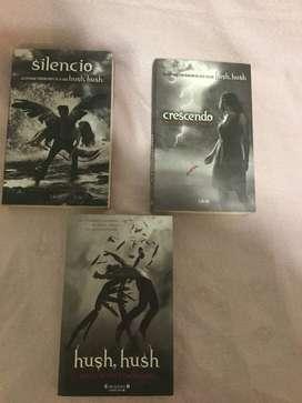 3 Libros Hush Hush - Originales