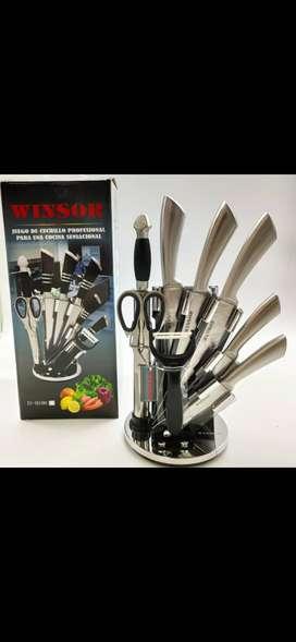 Juego de cuchillos en acero inoxidable