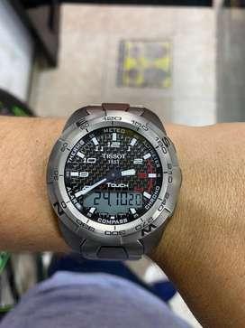 Reloj Tissot Touch Expert Titanium Carbono Original Como Nuevo