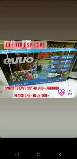 """Tv smart de 55"""" pulgadas EVVO Android"""