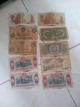 Se vende colección de billetes antiguos