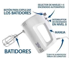 BATIDORA DE MANO POTENCIADA 350 WTTS 5 VELOCIDADES NUEVAS