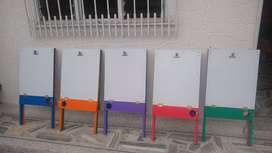 montaje 5 tableros infantiles para negocio doble cara