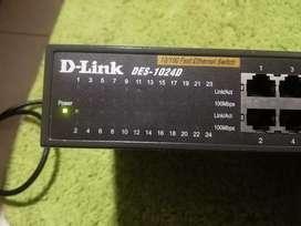 Switch 24 puertos d-link des-1024d 10/100Mbps no gestionable