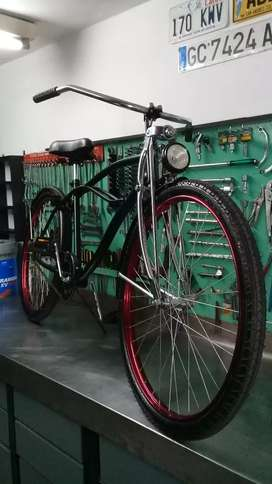 Bicicleta suspensión  larga r 26