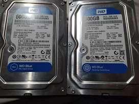 Discos escritorio 500 gb 2 x 90