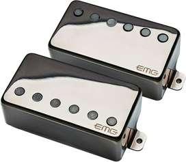 EMG Dual Mode 57/66 Humbucker Pickup Set Black Chrome