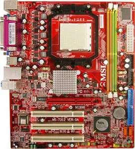 Board MSI K9MM-9 con procesador AMD Sempron